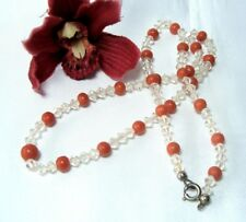 Korallenkette Collier Korallen Kette Koralle old coral necklace Collier / cd 002