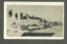 Sherburn MINNESOTA RPPC 1912 SNOW BOUND TRAIN M. & ST. L. RR nr Fairmont Jackson