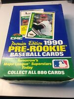 1990 CMC Rookie Premire Edition ⚾️ BOX 🔥Thomas, Bagwell & Martinez,Tons of RC's