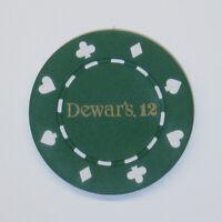 4 pc. 4 Color Set of Dewar's 12 Scotch Poker Chips