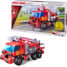 Meccano 16108 Junior Rescue Fire Engine 163Pcs Building Set New Kids Stem Toy 5+