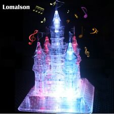 3D Assembly Crystal Castle Puzzle Educational Light-Up Kids Building toy gift