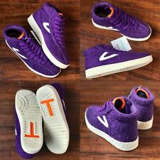 NEW DS WMNS SZ 6 TRETORN x ANDRE 3000 NYLITE HIGH TOP SNEAKER PURPLE TERRY CLOTH