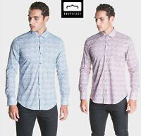 883 Police Mens New Designer Cotton Slim Fit Stretch Collared Short Sleeve Shirt