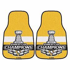 Pittsburgh Penguins 2017 Stanley Cup Champion 2-Piece Carpet Car Auto Floor Mats