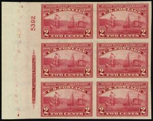 373, Mint Superb NH Left Side Plate Block of Six Stamps -Stuart Katz