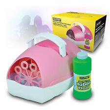 Battery Bubble Maker Machine Childrens Party Shooting Bubbles G002GCA Pink