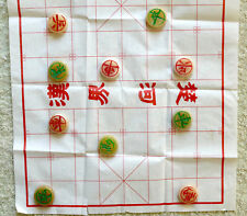CHINESE CHESS xiangqi Board Game 32 Acrylic Pieces Mats ENGLISH Instruction Case