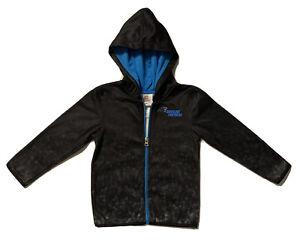 New NFL Carolina Panthers Boys Toddlers Black Lightweight Hoodie Jacket Size 4T