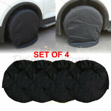 """Set of 4 Wheel Tire Covers for RV Truck Camper Trailer Car 32"""" inch Diameter US"""