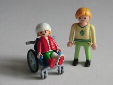 15709 - Playmobil aus Set 4407 Kinderrollstuhl Frau Mutter Rollstuhl mit Patient