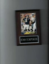 New listing STAN HUMPHRIES PLAQUE SAN DIEGO CHARGERS FOOTBALL NFL   C