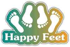 "Happy Feet Bed Time Adult Sex Funny Car Bumper Window Vinyl Sticker Decal 5""X4"""