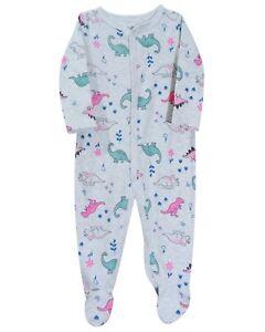 Pure Cotton Boys Girls Sleepsuit One Jumpsuit Sie Bodysuit 9M Dinosaur Snug Fit