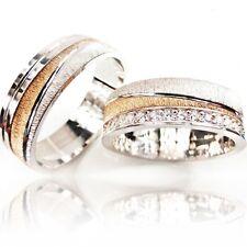 Trauringe 925 Silber + GRAVUR + ETUI Eheringe Verlobungsringe Partner Ringe 3311