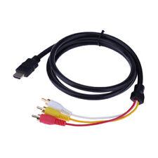 HDMI auf 3 RCA AV Audio Video Cinchstecker Kabel HDTV 1080P Scartstecker 1.5m