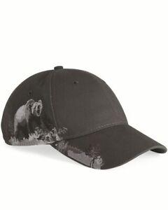 DRI DUCK Grizzly Bear Baseball Cap Hat 3319 Charcoal