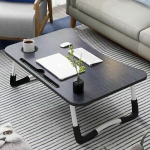 Bed Tray with Folding Legs Notebook Holder Serving Breakfast Lap Desk Table Mate