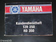 YAMAHA TZR 250 RD 350 Diversion Kundendienstheft Wartung Inspektion Serviceheft