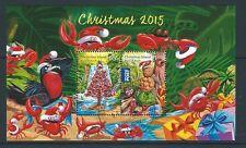 AUSTRALIA 2015 CHRISTMAS ISLAND CHRISTMAS MINIATURE SHEET FINE USED