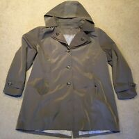 NWOT Calvin Klein Petites Belted Hooded Tan Trench Coat - Woman (Removable Hood)