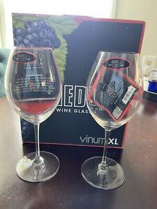 Riedel - Vinum XL Syrah Shiraz Wine Glasses Set of 2x 6416/55 Glass NEW Box