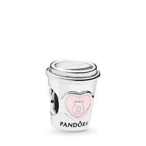 PANDORA Charm Sterling Silver ALE S925 COFFEE TO GO 797185EN160