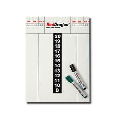 RED DRAGON DARTS DRY-WIPE SCORE BOARD