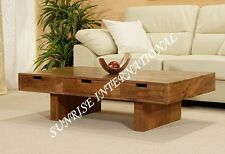 Wooden coffee table / center table (3 drawers) !