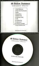 40 BELOW SUMMER w/ ILL NINO Mourning After USA TST PRESS ADVNCE PROMO DJ CD 2003
