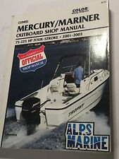 MERCURY MARINER  4-STROKE OUTBOARD ENGINE MANUAL 75hp 90hp 115hp 225hp 2001-2003