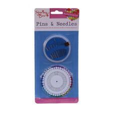 Kit de Costura Caja Color cabeza los pines +30 agujas de coser a mano en dispensadores de práctico