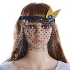 Veil Rhinestone Leaf Dot Lace Eye Mask Venetian Masquerade Party Ball Prom Black