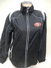 "0120 Womens NFL Apparel SAN FRANCISCO 49ers ""Full Zip"" Lite JACKET Black $49.99"