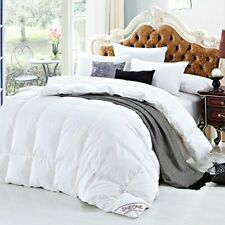 SHEONE White Goose Down Comforter Full/Queen 100% Cotton Cover Hypo-Allergenic