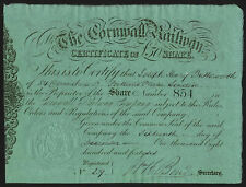 More details for cornwall railway, £50 share, 1846