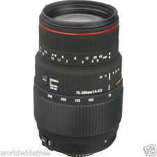 Sigma 70-300mm f/4-5.6 APO DG Macro Lens for Nikon AF-D-Free Shipping 11 pc