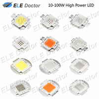 10W 20W 30W 50W 100W White Royal Blue RGB Yellow Red Green High Power COB LED