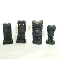 Vintage Hip Originals Tiki Gods 1970S MADE IN HAWAII Lava 4 Figurines Eyes