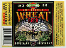 Boulevard Brewing UNFILTERED WHEAT beer label MO 12 oz - Var #1