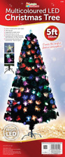 JustforChristmas 5ft Multicoloured LED Christmas Tree with Christmas Lights