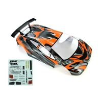 Redcat Racing 10030-1 1/10 Road Car Body Orange and Black 10030-1