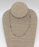 Vintage Gold Tone Filigree Oval Delicate Choker Necklace