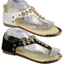 Sandali e scarpe gladiatori neri per il mare da donna sera