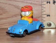 "Vintage ERTL ""I'll Drive"" Die Cast Garfield in Blue Convertible Car Toy **READ**"