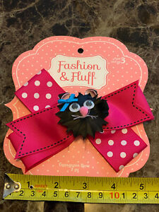 """Cat Hairbow - 5 1/2"""" Hair bows ribbons 2 In 1"""