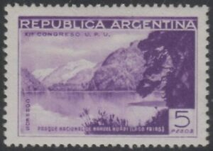 ARGENTINA 1939 NAHUEL HUAPI UPU Sc 466 TOP VALUE MLH VF SCV$62.50