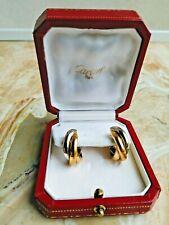 Cartier 18K 3-Gold Trinity Earrings, US$3000 Original Cost, Earlier Version