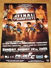 Pride Final Conflict 2005 Poster - Crocop Vs. Fedor Wanderlei Silva Ufc Mma Bjj