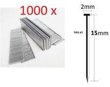 1000 clavos de 15mm para grapadora Clavadora electrica Neumatica Parkside Tipo47